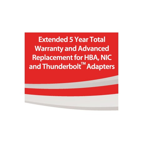 HBA, NIC and ThunderLink Extended 5 Year Total Warranty and Advanced Replacement