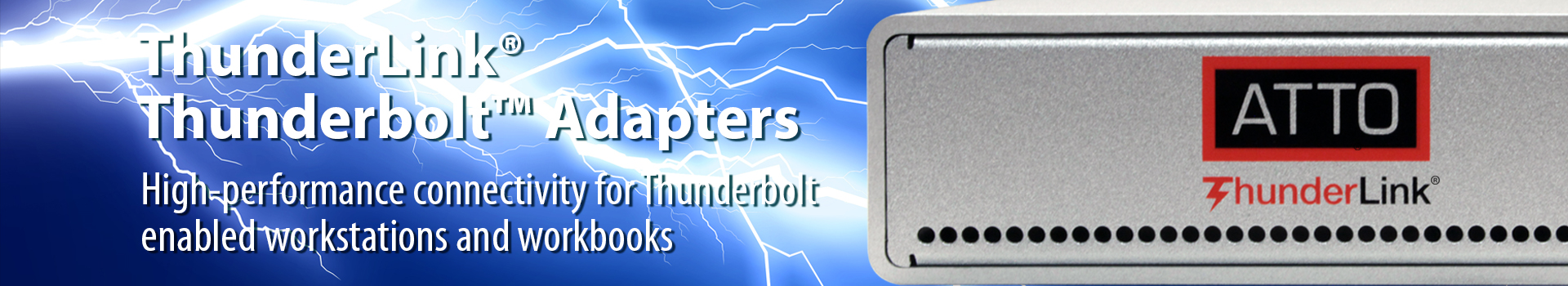High-performance connectivity for Thunderbold-enabled workstations and workbooks
